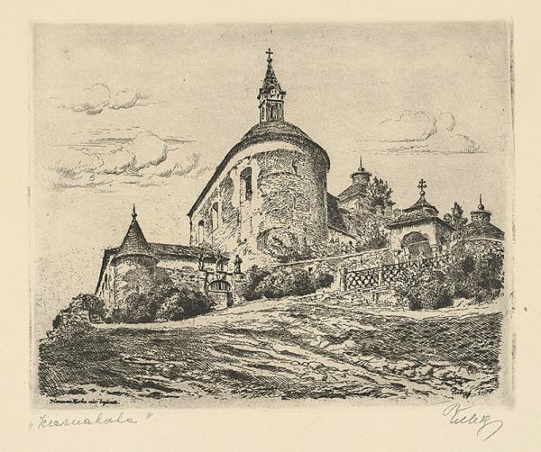 Koloman Tichy - Vchod do hradu Krásna Hôrka