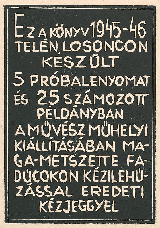 Július Szabó – Titulný list k  cyklu Ecce homo