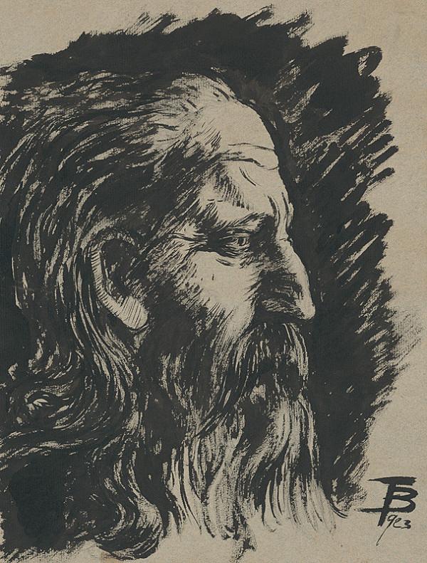 Stredoeurópsky maliar z 1. polovice 20. storočia – Hlava muža