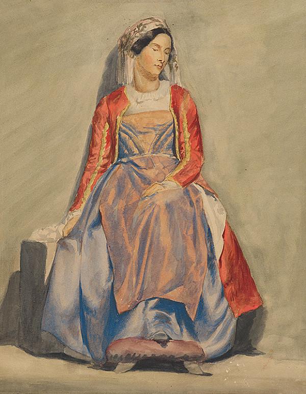 Vojtech Klimkovič – Žena v albánskom kroji