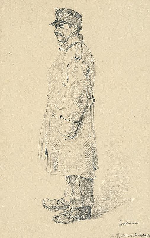 Slovenský maliar z 2. polovice 19. storočia, Klimkovič – Štúdia mužskej postavy