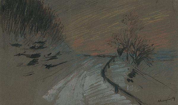 Ladislav Mednyánszky - Cesta v zime