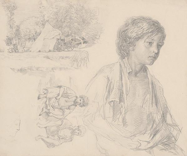Gabriel Klimkovič - Štúdia cigánskeho tábora a cigánskych chlapcov