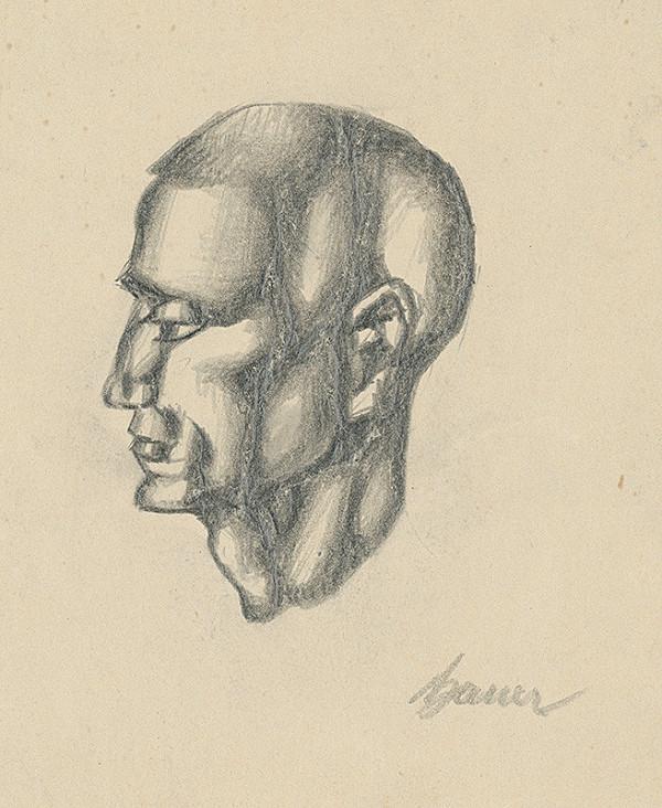 Konštantín Bauer – Štúdia hlavy muža z profilu