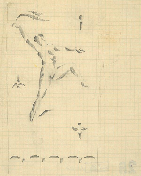 Konštantín Bauer – Štúdia tancujúceho ženského aktu