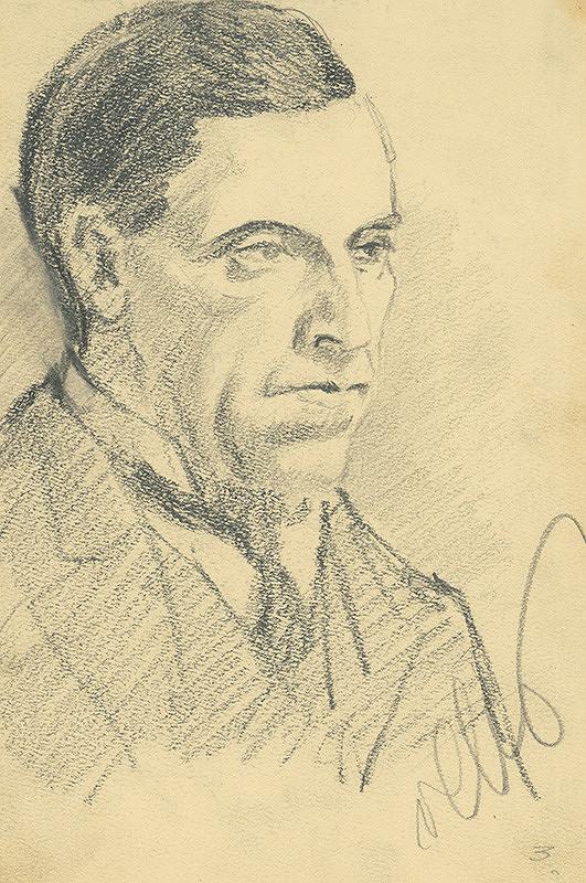 Konštantín Bauer - Štúdia hlavy muža