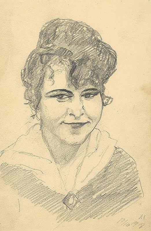 Konštantín Bauer – Štúdia hlavy ženy