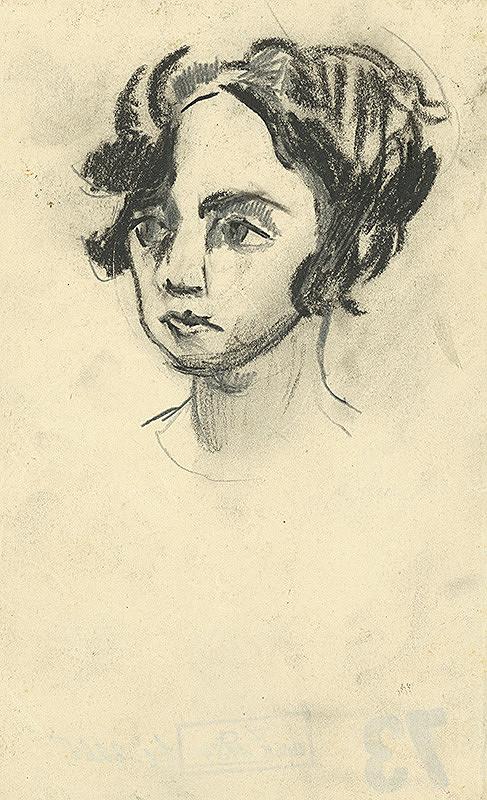 Konštantín Bauer – Štúdia ženskej hlavy