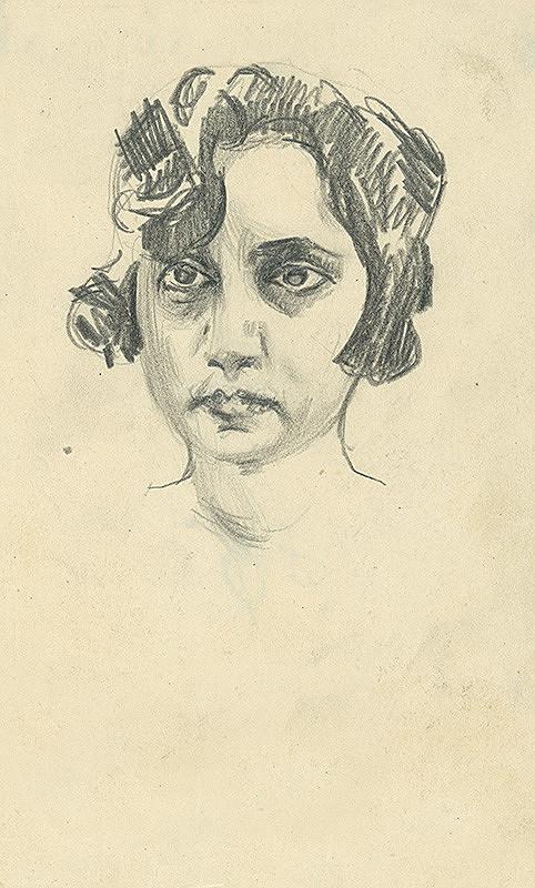Konštantín Bauer - Štúdia ženskej hlavy