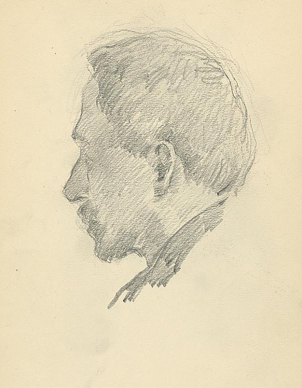 Andor Borúth – Štúdia hlavy muža