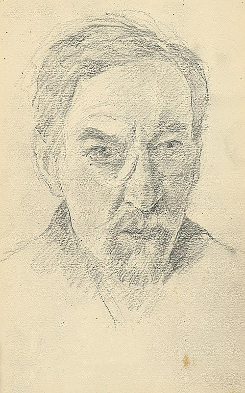 Andor Borúth - Štúdia hlavy muža