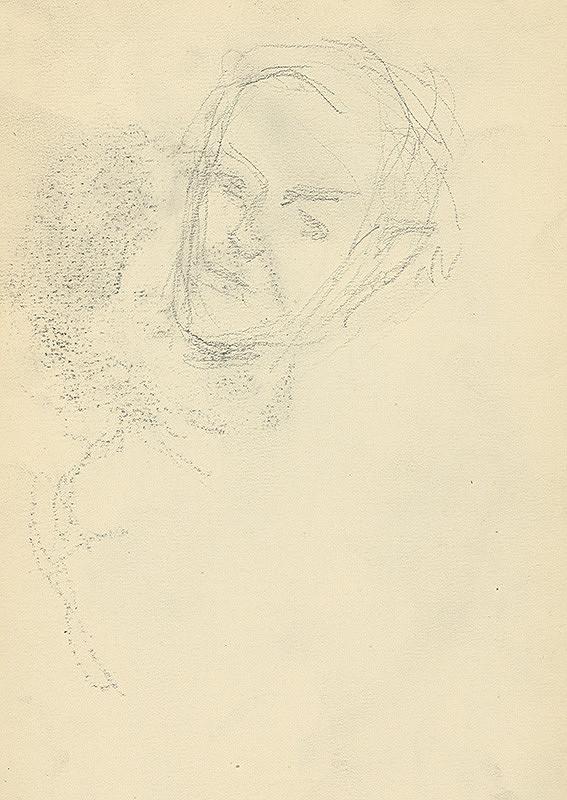 Andor Borúth - Štúdia hlavy