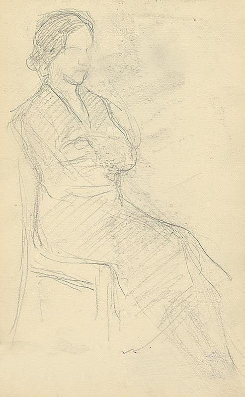 Andor Borúth – Štúdia sediacej ženy