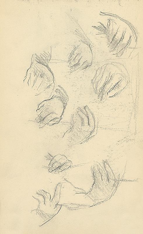 Andor Borúth - Štúdia prstov na rukách