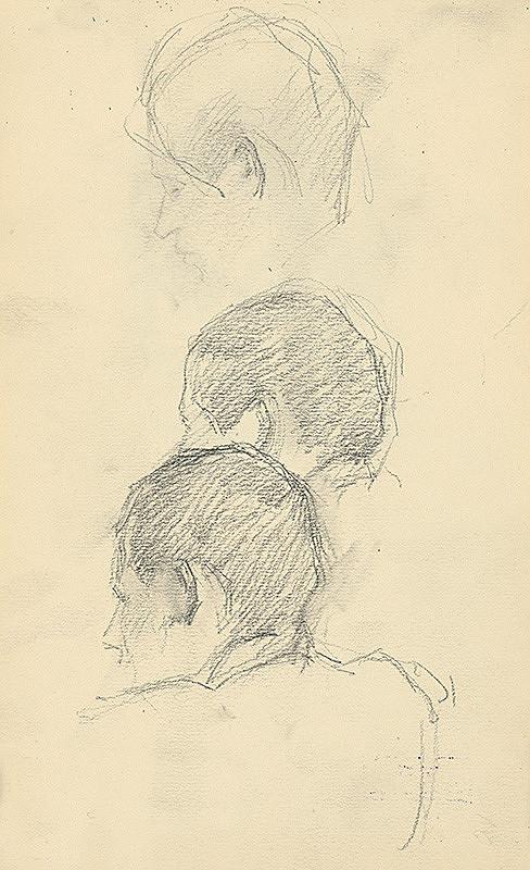 Andor Borúth - Štúdia troch mužských hláv