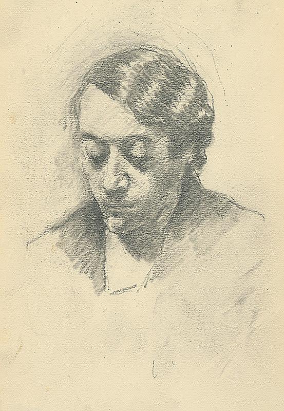 Andor Borúth - Štúdia sklonenej ženskej hlavy