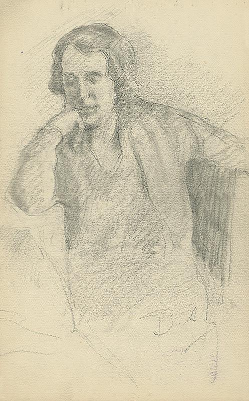 Andor Borúth - Štúdia sediacej ženy