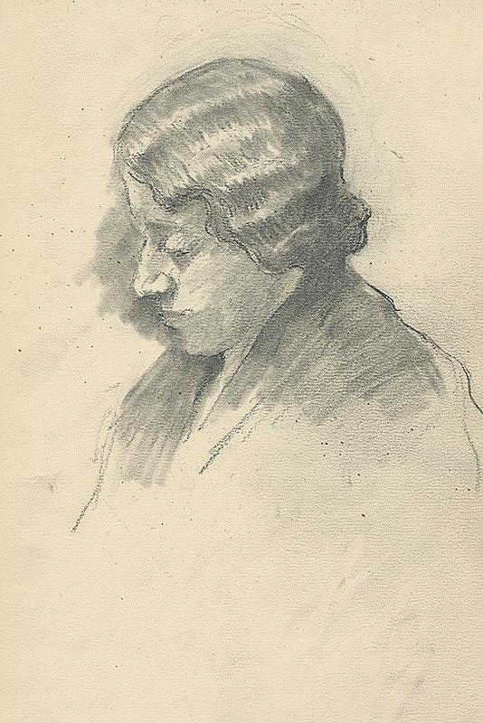 Andor Borúth - Štúdia ženskej hlavy
