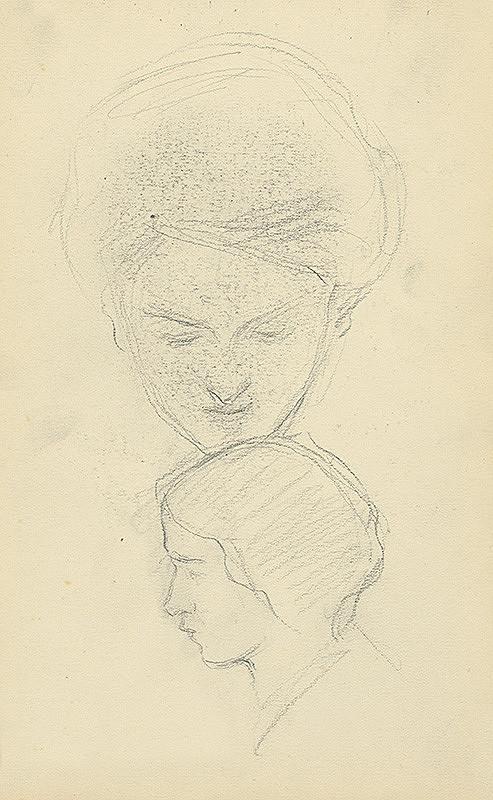Andor Borúth - Štúdia dvoch ženských hláv