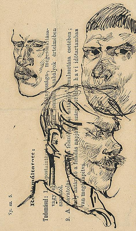 Ladislav Mednyánszky - Štúdie troch mužských hláv