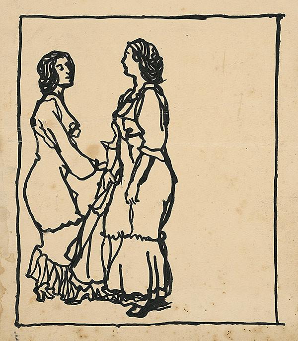 Konštantín Kövári-Kačmarik – Štúdia dvoch dievčat
