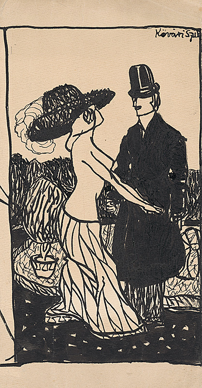 Konštantín Kövári-Kačmarik – Módna skica III., 1908–1912