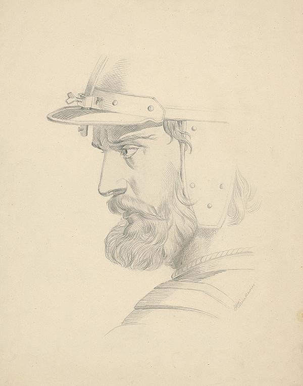 Vojtech Klimkovič – Hlava muža s prilbou