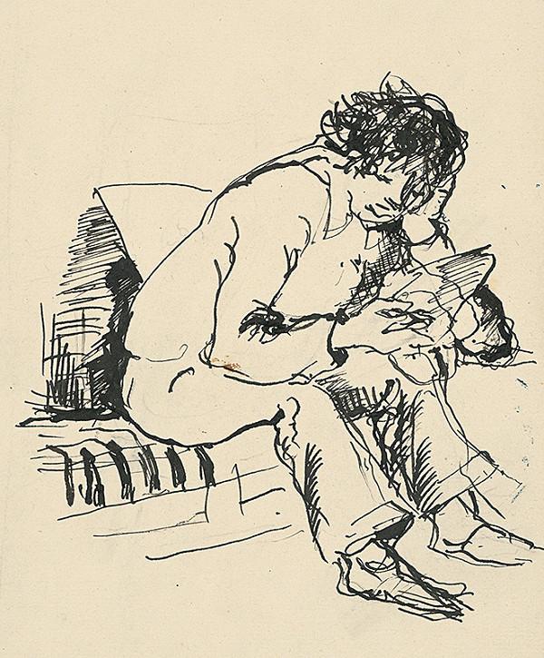 Július Jakoby – Čítajúci chlapec