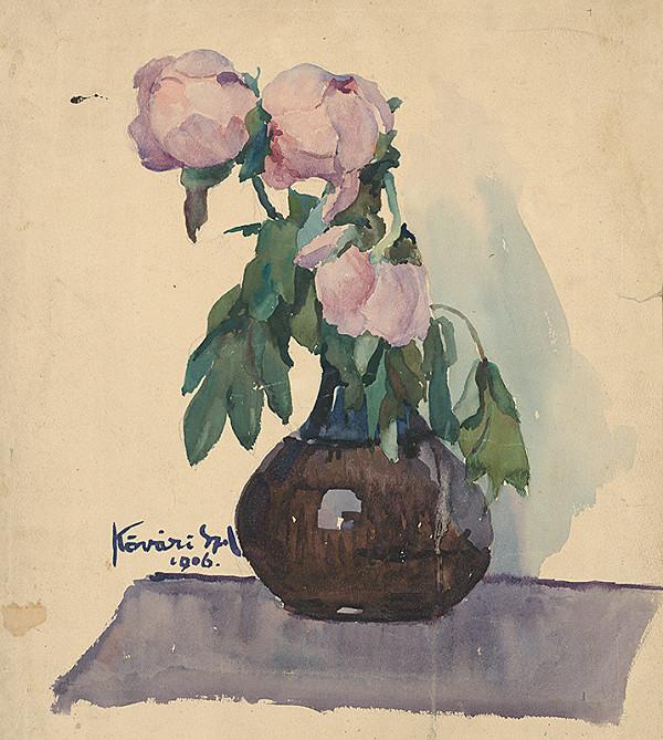 Konštantín Kövári-Kačmarik – Váza s pivonkami
