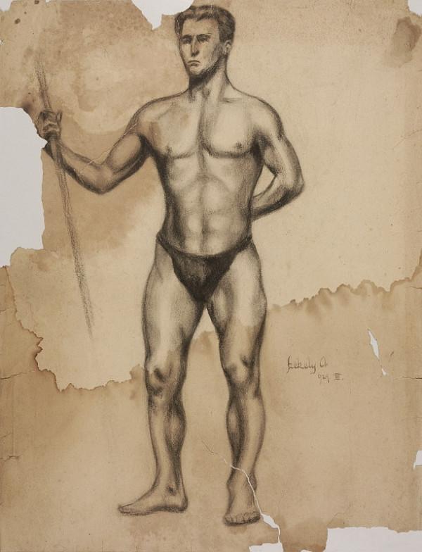 Ivan Anton Székely - Muž s palicou v ruke
