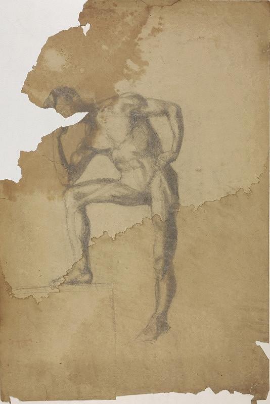Ivan Anton Székely - Mužský akt s podopretou hlavou