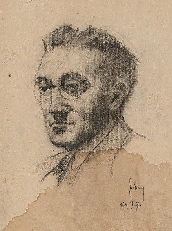 Ivan Anton Székely - Podobizeň muža s okuliarmi
