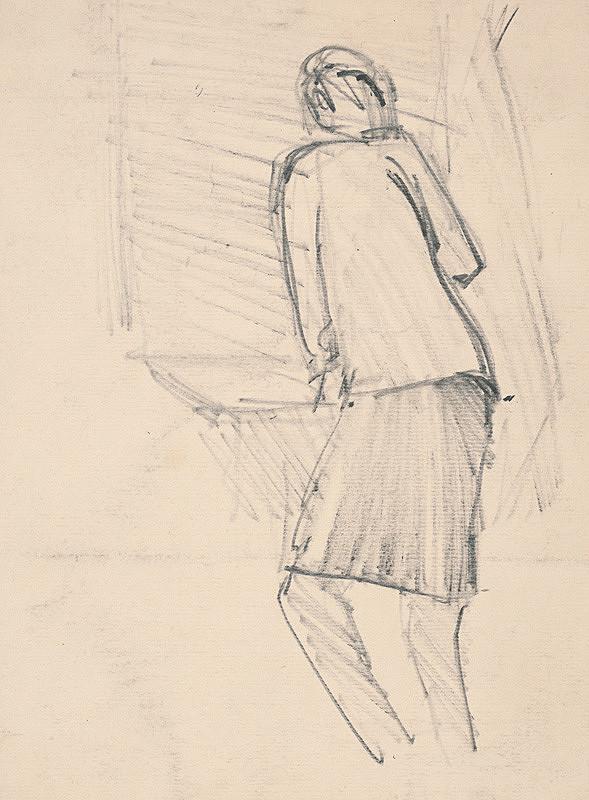 Slovenský maliar z 2. polovice 20. storočia – Stojaca žena
