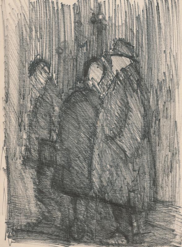 Slovenský maliar z 2. polovice 20. storočia – Stojace postavy