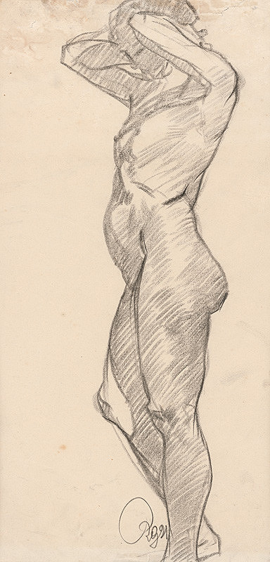 Ernest Rákosi – Stojaci ženský akt