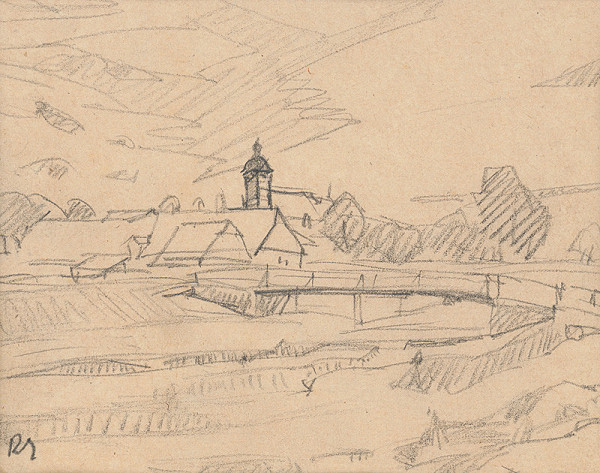 Ernest Rákosi – Pohľad na dedinu