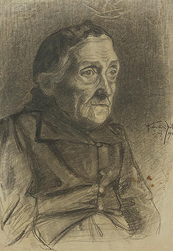 Konštantín Kövári-Kačmarik – Portrét starenky