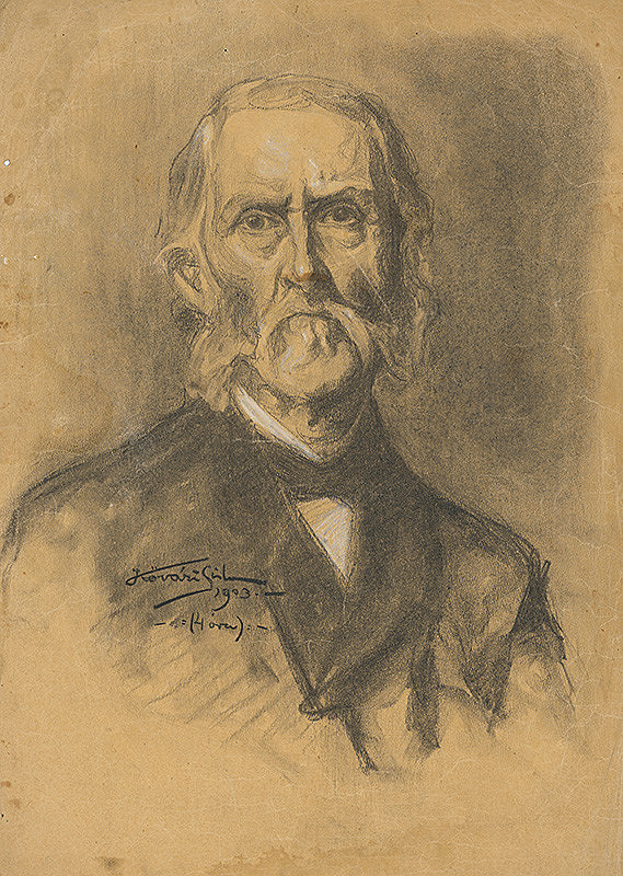 Konštantín Kövári-Kačmarik – Portrét starca