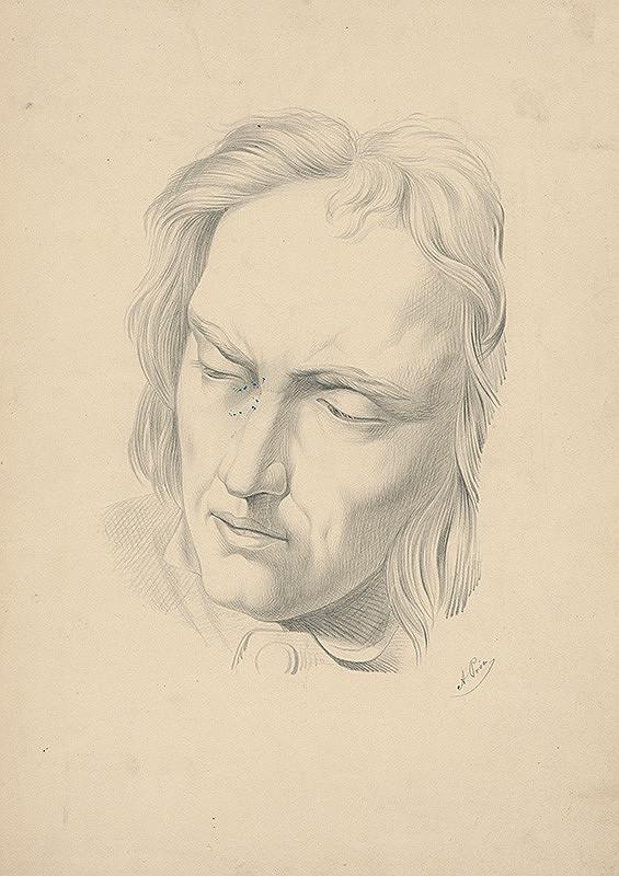 Východoslovenský maliar z 2. polovice 19. storočia - Hlava muža