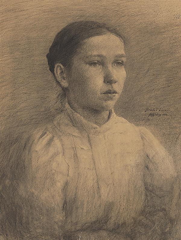 Elemír Halász-Hradil – Portrét dievčaťa