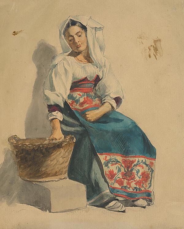 Vojtech Klimkovič – Štúdia sediacej ženy