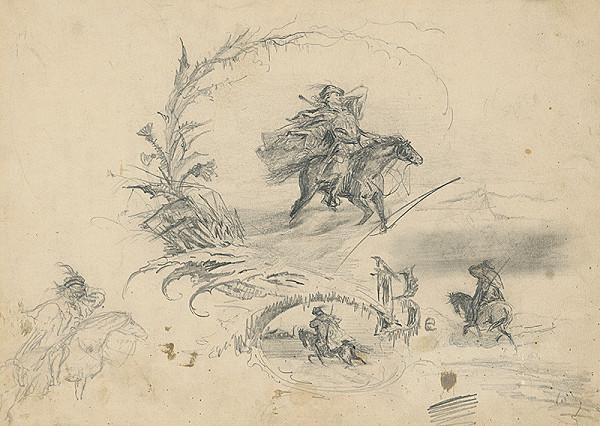 Vojtech Klimkovič – Štúdia k obrazu Jazdec na koni