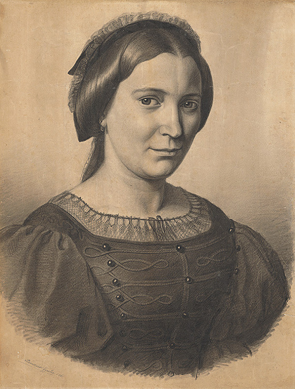 Gyula Benczúr – Podobizeň umelcovej matky (Gizela Lanszgallnerová)
