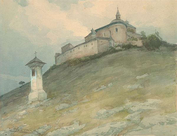 Ľudovít Čordák – Pohľad na hrad Krásnu Hôrku