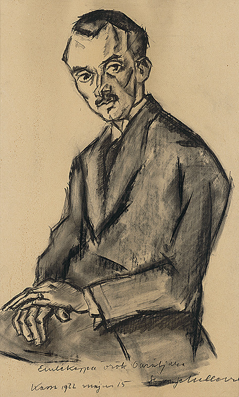 Gejza Schiller - Štúdia sediaceho muža