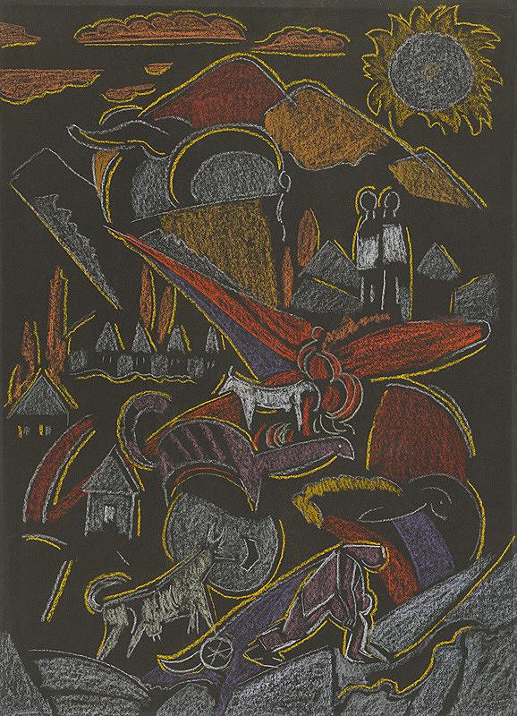 Anton Jasusch – Horská krajina s figurálnou štafážou