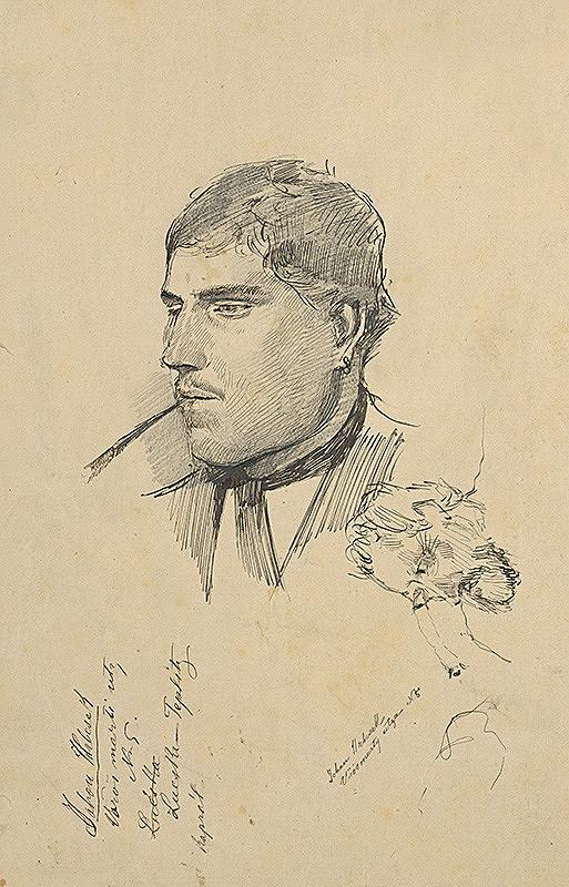 Ladislav Mednyánszky – Štúdia hlavy muža