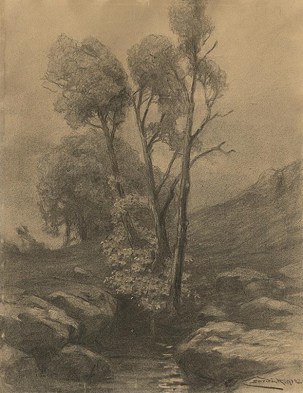 Ľudovít Čordák - Štúdia stromov pri potoku