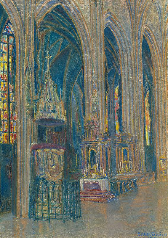 Konštantín Bauer – Vnútro košického dómu