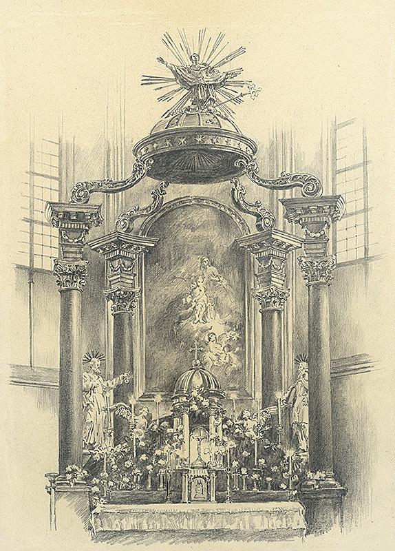 Vojtech Šipoš – Hlavný oltár františkánskeho kostola v Košiciach
